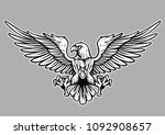 eagle black and white vector... | Shutterstock .eps vector #1092908657