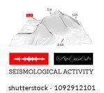 seismic activity infographics... | Shutterstock . vector #1092912101