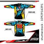 long sleeve motocross jerseys t ... | Shutterstock .eps vector #1092916391