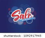 fourth of july. 4th of july... | Shutterstock .eps vector #1092917945