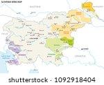 slovenia wine growing regions... | Shutterstock .eps vector #1092918404