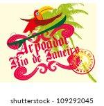 surfer bird | Shutterstock .eps vector #109292045