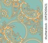 paisley vector seamless pattern.... | Shutterstock .eps vector #1092920621
