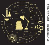 scientific  education elements. ... | Shutterstock .eps vector #1092927881