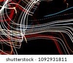 color magic line. abstract... | Shutterstock . vector #1092931811