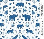 endangered species ornamental... | Shutterstock . vector #1092934091