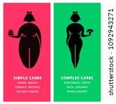 diet infographics for women.... | Shutterstock .eps vector #1092943271
