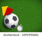 soccer ball with stopwatch ... | Shutterstock .eps vector #1092950681