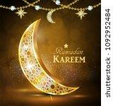 ramadan greetings vector   Shutterstock .eps vector #1092952484