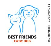 vector icon cat and dog. | Shutterstock . vector #1092954761