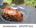 grilled juicy beef meat. meat...   Shutterstock . vector #1092957161