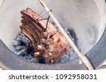 beef ribs in tandoor. grilled...   Shutterstock . vector #1092958031