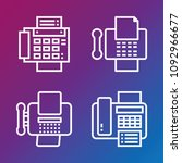fax icon set   outline... | Shutterstock .eps vector #1092966677