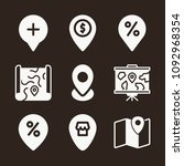 pin icon set   filled... | Shutterstock .eps vector #1092968354