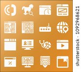 internet icon set   filled... | Shutterstock .eps vector #1092968621