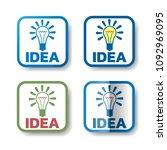 idea stickers. set of 4... | Shutterstock .eps vector #1092969095