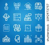 business icon set   outline... | Shutterstock .eps vector #1092973757
