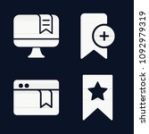 bookmark icon set   filled... | Shutterstock .eps vector #1092979319