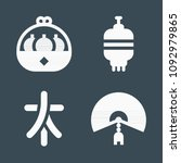 chinese icon set   filled... | Shutterstock .eps vector #1092979865