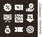 discount icon set   filled... | Shutterstock .eps vector #1092980747