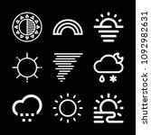 outline weather icon set such... | Shutterstock .eps vector #1092982631