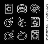 outline cleaning icon set such... | Shutterstock .eps vector #1092982691