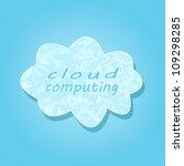 white cloud computing on light...