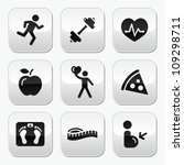 keep fit and healthy icons on... | Shutterstock .eps vector #109298711