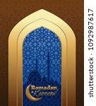 greeting card for ramadan.... | Shutterstock .eps vector #1092987617