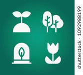 filled nature 4 vector icons...