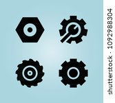 filled cogwheel 4 vector icons... | Shutterstock .eps vector #1092988304