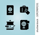 filled travel 4 vector icons...