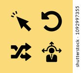 filled set of 4 arrows icons...   Shutterstock .eps vector #1092997355