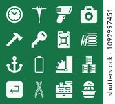 filled set of 16 tool icons...   Shutterstock .eps vector #1092997451