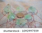 tumbled green calcite. lovely... | Shutterstock . vector #1092997559