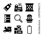 filled set of 9 tool icons such ...   Shutterstock .eps vector #1092998171