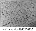 electrocardiogram of wave in...   Shutterstock . vector #1092998225