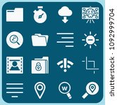 interface related set of 16... | Shutterstock .eps vector #1092999704