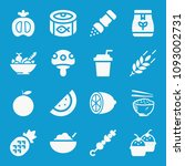 Food Related Set Of 16 Icons...
