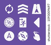 filled set of 9 direction icons ... | Shutterstock .eps vector #1093009697