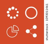 filled set of 4 circle icons... | Shutterstock .eps vector #1093011461
