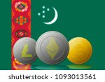 3d illustration litecoin... | Shutterstock . vector #1093013561