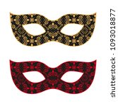 female carnival mask ...   Shutterstock .eps vector #1093018877