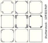 vector decorative frames  set... | Shutterstock .eps vector #109301969