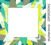 leaf background with white...   Shutterstock .eps vector #1093029341
