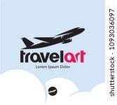 plane logo. travel  | Shutterstock .eps vector #1093036097