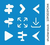 set of 9 direction filled icons ... | Shutterstock .eps vector #1093039244