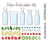 detox fruit water kit. five... | Shutterstock .eps vector #1093041281