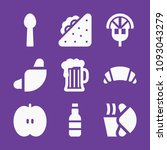 set of 9 food filled icons such ... | Shutterstock .eps vector #1093043279