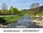 dreisam in freiburg in spring | Shutterstock . vector #1093045427